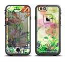 The Green Bright Watercolor Floral Apple iPhone 6/6s LifeProof Fre Case Skin Set