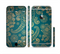 The Green & Gold Lace Pattern Sectioned Skin Series for the Apple iPhone 6/6s Plus