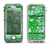The Green Grunge Wood Apple iPhone 5-5s LifeProof Nuud Case Skin Set