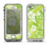 The Green Hawaiian Floral Pattern V4 Apple iPhone 5-5s LifeProof Nuud Case Skin Set