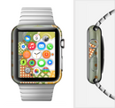 The Green Plaid & Polka Dotted Cloud Collage Full-Body Skin Set for the Apple Watch