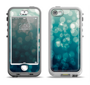 The Green Unfocused Orbs Of Light Apple iPhone 5-5s LifeProof Nuud Case Skin Set