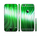 The Green Vector Swirly HD Strands Sectioned Skin Series for the Apple iPhone 6/6s Plus