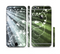 The Green and White Light Arrays with Glowing Vines Sectioned Skin Series for the Apple iPhone 6/6s Plus