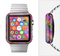 The Grunge Abstract Pink Painted Shapes Full-Body Skin Set for the Apple Watch