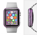 The Grunge Dark Pink Texture Full-Body Skin Set for the Apple Watch