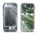 The Grunge Green Rays of Light with Glowing Vine Apple iPhone 5-5s LifeProof Nuud Case Skin Set