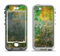 The Grunge Green & Yellow Surface Apple iPhone 5-5s LifeProof Nuud Case Skin Set