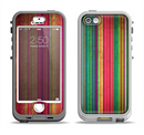 The Grunge Thin Vibrant Strips Apple iPhone 5-5s LifeProof Nuud Case Skin Set