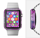 The Grunge Watercolor Pink Strokes Full-Body Skin Set for the Apple Watch