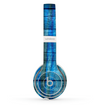 The Grungy Dark Blue Washed Wood Skin Set for the Beats by Dre Solo 2 Wireless Headphones