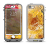 The Grungy Golden Paint Apple iPhone 5-5s LifeProof Nuud Case Skin Set