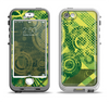 The Grungy Green Messy Pattern V2 Apple iPhone 5-5s LifeProof Nuud Case Skin Set