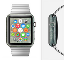 The Grungy Green Painted Fabric Full-Body Skin Set for the Apple Watch
