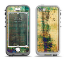 The Grungy Scratched Surface V3 Apple iPhone 5-5s LifeProof Nuud Case Skin Set