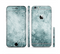 The Grungy Teal Wavy Abstract Surface Sectioned Skin Series for the Apple iPhone 6/6s Plus