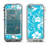 The Hawaiian Floral Pattern V4 Apple iPhone 5-5s LifeProof Nuud Case Skin Set