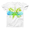 The Hello Summer Watercolor Branches ink-Fuzed Unisex All Over Full-Printed Fitted Tee Shirt