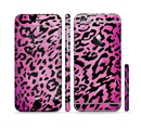 The Hot Pink Cheetah Animal Print Sectioned Skin Series for the Apple iPhone 6/6s Plus