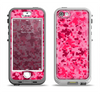 The Hot Pink Digital Camouflage Apple iPhone 5-5s LifeProof Nuud Case Skin Set