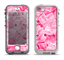 The Hot Pink Ice Cubes Apple iPhone 5-5s LifeProof Nuud Case Skin Set