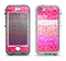 The Hot Pink Striped Cheetah Print Apple iPhone 5-5s LifeProof Nuud Case Skin Set