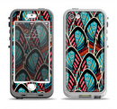The Intense Colorful Peacock Feather Apple iPhone 5-5s LifeProof Nuud Case Skin Set