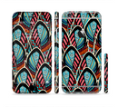 The Intense Colorful Peacock Feather Sectioned Skin Series for the Apple iPhone 6/6s Plus