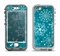 The Intricate Snowfakes with Green Background Apple iPhone 5-5s LifeProof Nuud Case Skin Set