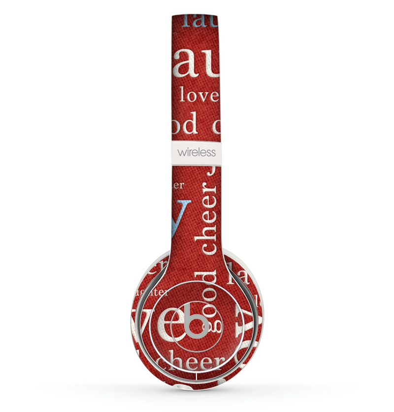 The Joy & Love WordCloud Wallpaper Skin Set for the Beats by Dre Solo 2 Wireless Headphones