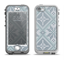 The Knitted Snowflake Fabric Pattern Apple iPhone 5-5s LifeProof Nuud Case Skin Set