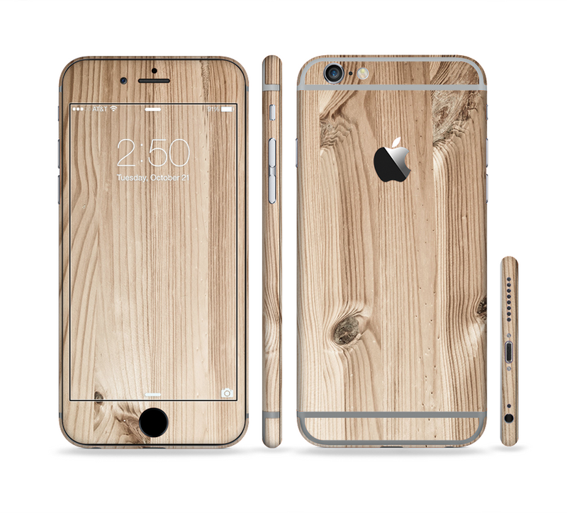 The LIght-Grained Wood Sectioned Skin Series for the Apple iPhone 6/6s Plus