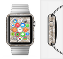 The Layered Tan Circle Pattern Full-Body Skin Set for the Apple Watch