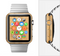 The Light Bamboo Wood Full-Body Skin Set for the Apple Watch
