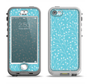 The Light Blue Blossum Twigs Apple iPhone 5-5s LifeProof Nuud Case Skin Set