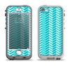 The Light Blue Thin Lined Zigzag Pattern Apple iPhone 5-5s LifeProof Nuud Case Skin Set
