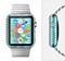 The Light Blue Thin Lined Zigzag Pattern Full-Body Skin Set for the Apple Watch