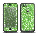 The Light Green & White Floral Sprout Apple iPhone 6/6s LifeProof Fre Case Skin Set