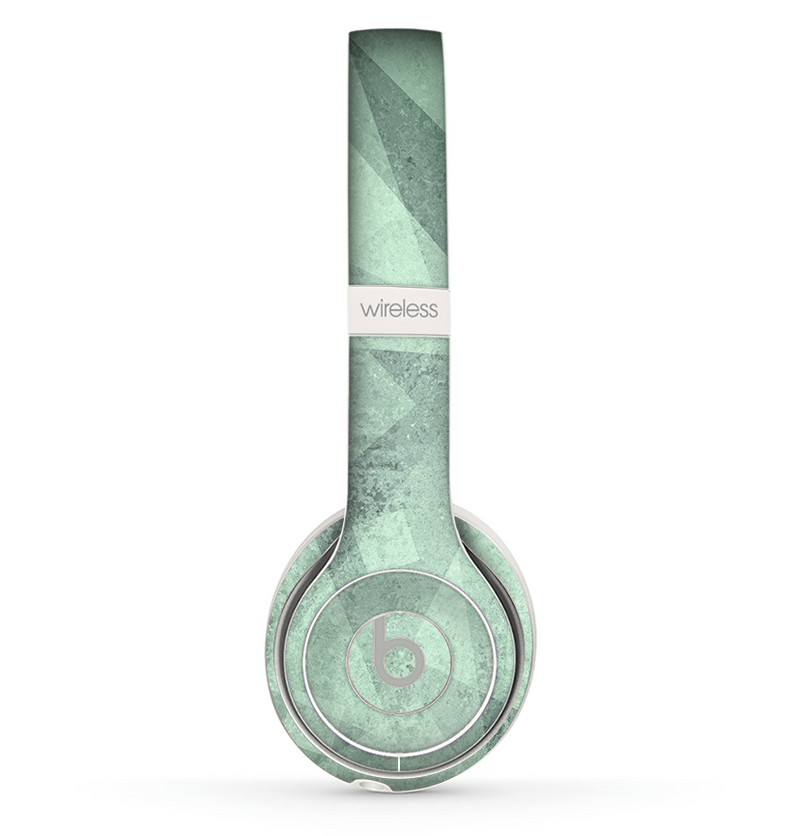 The Light Green with Translucent Shapes Skin Set for the Beats by Dre Solo 2 Wireless Headphones