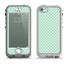 The Light Green with White Polkadots Apple iPhone 5-5s LifeProof Nuud Case Skin Set