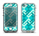 The Locking Green Pattern Apple iPhone 5-5s LifeProof Nuud Case Skin Set