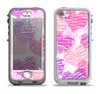 The Loopy Pink and Purple Hearts Apple iPhone 5-5s LifeProof Nuud Case Skin Set