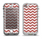 The Maroon & White Chevron Pattern Apple iPhone 5-5s LifeProof Nuud Case Skin Set
