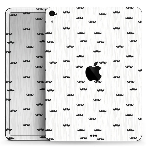 "The Micro Mustache Pattern  - Full Body Skin Decal for the Apple iPad Pro 12.9"", 11"", 10.5"", 9.7"", Air or Mini (All Models Available)"