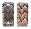 The Modern Colorful Abstract Chevron Design Apple iPhone 5-5s LifeProof Nuud Case Skin Set