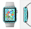 The Morocan Teal Pattern Full-Body Skin Set for the Apple Watch
