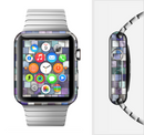 The Mosaic Purple and Green Vivid Tiles V4 Full-Body Skin Set for the Apple Watch