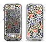 The Multicolored Leopard Vector Print Apple iPhone 5-5s LifeProof Nuud Case Skin Set