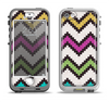 The Multicolored Pixelated ZigZag CHevron Pattern Apple iPhone 5-5s LifeProof Nuud Case Skin Set