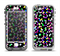 The Multicolored Polka with Black Background Apple iPhone 5-5s LifeProof Nuud Case Skin Set